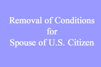 removal of Conditions